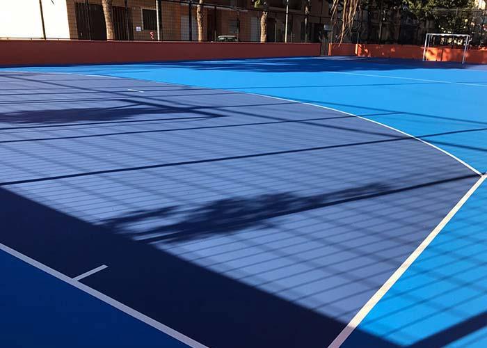 Pavimentos deportivos continuos con resinas en León
