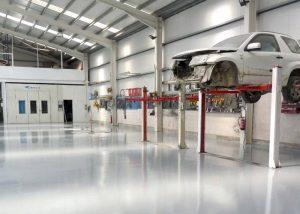 Suelos y Pavimentos Industriales continuos en talleres en Castilla y León