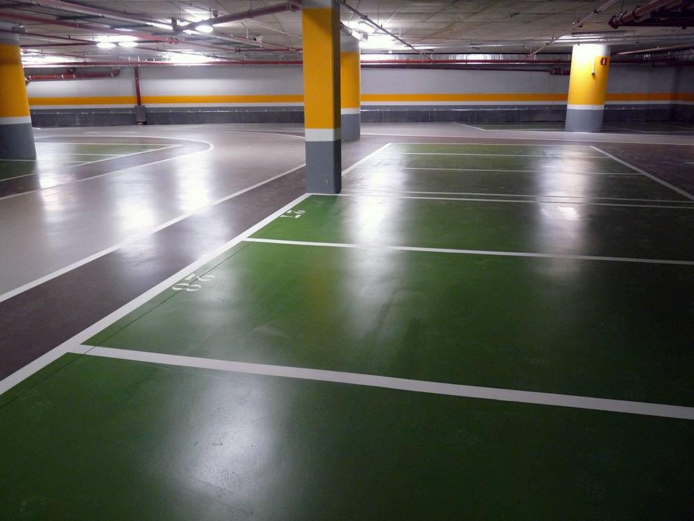 señalización y pintura en parkings y garajes