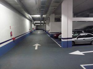 Señalización y pintura para garajes Palencia