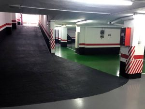 Rehabilitación de suelos en rampas de garajes en Salamanca